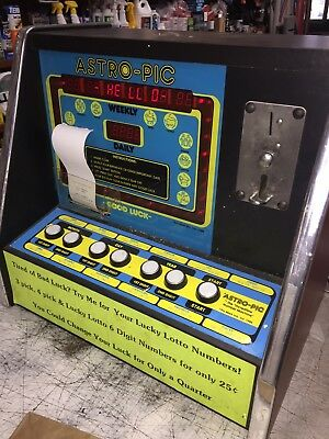 """Vintage Astro Pic Lotto Coin Op Arcade Game 25 Cent Table Top """"Flux Capacitor."""""""