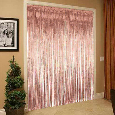 Rose Gold Fringe Curtain Paper Tassels Confetti Party Birthday Wedding Decor