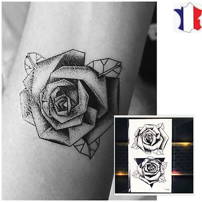 Tatouage Temporaire Tattoo Ephemere Mandala Fleur De Lotus Eur