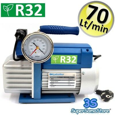 3S Vacuum Pump 2.5 Cfm Pressure Gauge Air Conditioning Specific For R32 R1324Yf