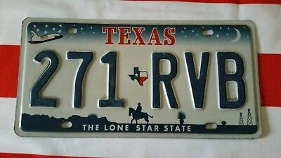 plaque d'immatriculation Texas Us 271 RVB Usa license plate