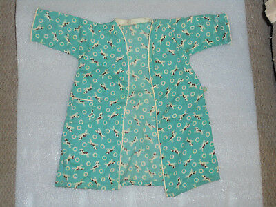 Vintage Doll Clothes 1940s 1950s Robe With Doggy Print