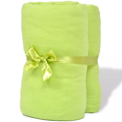 Cotton Jersey Fitted Sheet 90x190cm 100x200cm Apple Green 2 Pieces
