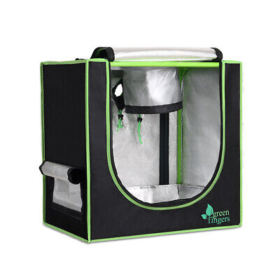 Plant Grow Tents Hydroponics Indoor Setup With Durable Support Bar Black Green