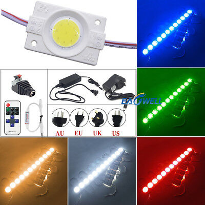 10ft DC 12V 1 LEDs COB Module LED Strip Light Waterproof Super Bright Sign Lamp