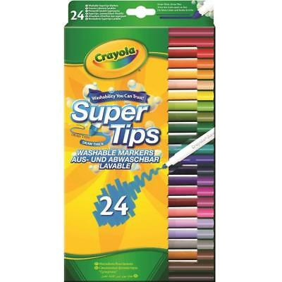 Crayola 24 Super Tips washable Markers - FREE & FAST DELIVERY