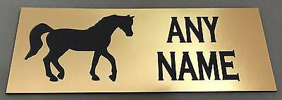 BP19 EQUESTRIAN HORSE STABLE DOOR TAG NAME WALL SIGN ABS Engraved Brass PLAQUE