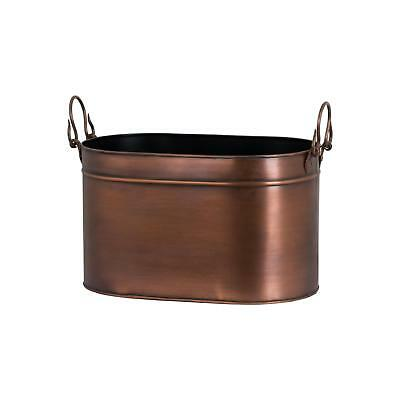 Fire Log Burner Wood Holder Bucket Basket Metal Copper Freside Hearth Accessory