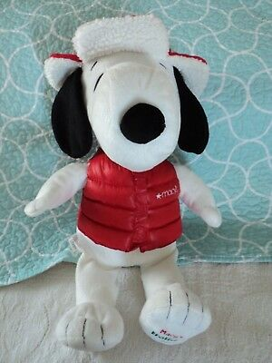 Macy S Holiday 2015 Snoopy Stuffed Animal Plush In Red Hat And Red