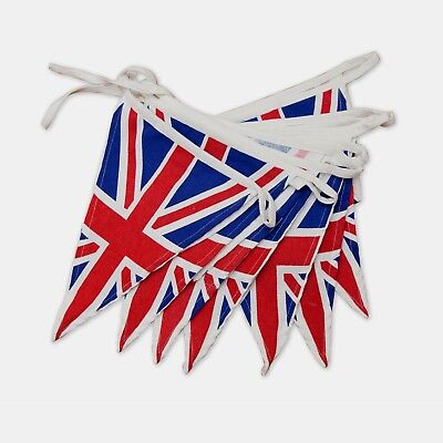 Cotton Union Jack Bunting Vintage Retro Fabric 5 Metres Banner 1940s Party
