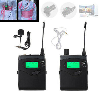UHF Wireless Clip On Lapel Microphone Lavalier Mic for Camcorder DSLR Camera DV