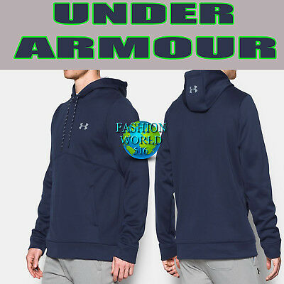 9b7a92a5f698 Under Armour Men s Size Small Storm Armour Fleece Hoodie 1280729 Navy Blue