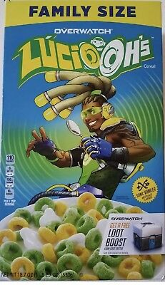 New Kellogg's Overwatch Lucio Oh's Vanilla Flavored Cereal 18.7 Oz