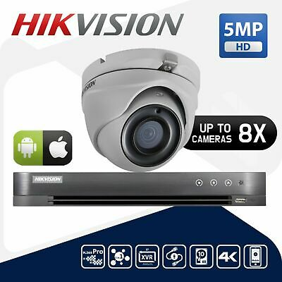 Hikvision 5Mp Cctv Bundle 4K Hd Dvr 4Ch 8Ch Outdoor Camera Home Security Kit Uk