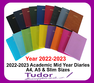 2019-2020 Academic Diary A4 A5 Week to View Day a Page Mid Year - Colour Choice