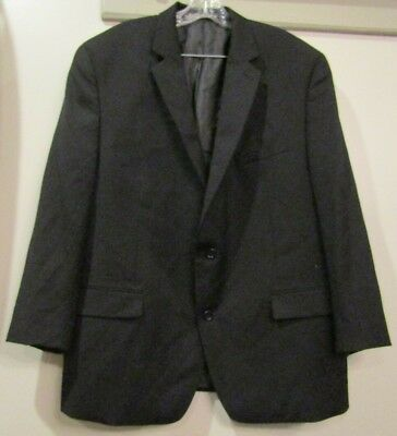 Michael Kors Black Blazer Sports Coat Wool 48R Mens Classic Two Button
