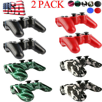 US SELLER 2x Wireless Bluetooth Game Controller Pad For Sony PS3 Playstation 3