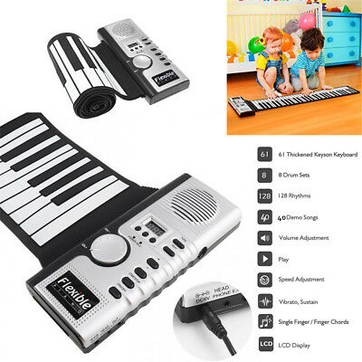 61 KEYS SILICONE MIDI Digital Roll-up Foldable Electronic