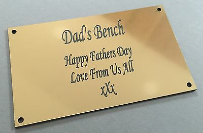 BP62 DADS BENCH PARK  ABS Engraved Brass Memorial Plaque Plate Grave Marker
