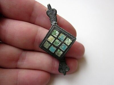 Ancient Roman bronze enameled and inlays zoomorphic shape brooch 2 - 3 A.D.(1)
