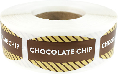 Chocolate Chip Grocery Market Stickers, 0.75 x 1.375 Inches, 500 Labels Total