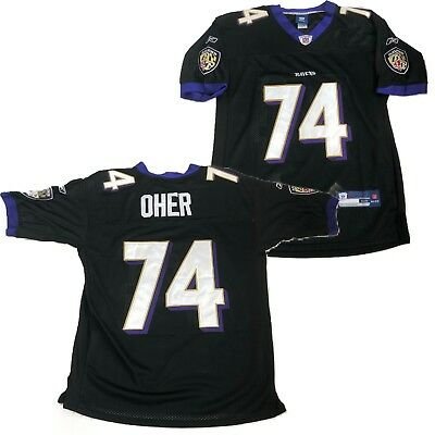 Baltimore Ravens Michael Oher  74 Black Jersey Sz 48 Reebok On Field Blind  Side 66cf3ac21