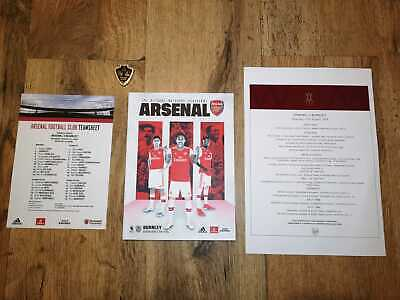 Arsenal v Manchester United FA Cup 4th Round Programme 25 January 2019