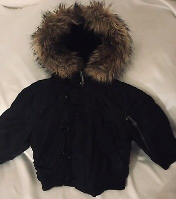 JUICY COUTURE Black Bomber Jacket Coat Girls ClothIng Age 2 Years 24m Clothes