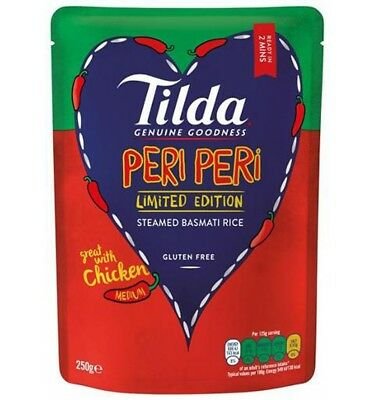 Tilda Peri Peri Steamed Rice 250g x 6