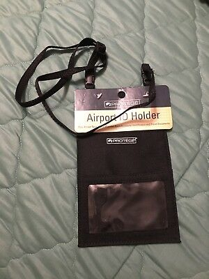 Protege Passport Holder Airport ID and Ticket Wallet Traveling Purse Neck Wallet