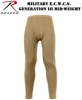 Black Desert Sand Long Johns Military ECWCS Gen III Mid-Weight Long Underwear