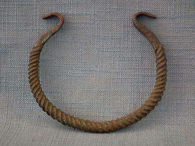 Authentic Ancient 7-3rd century B.C. Celtic Warrior Bronze Torc -Torque to sword