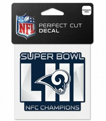 Los Angeles Rams 2018 NFC Champions 4'' x 4'' Perfect Cut Decal
