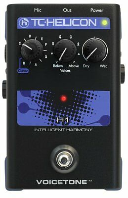 TC Helicon Voicetone H1 Intelligent Harmony Vocal Processor Effects Pedal w/tra#