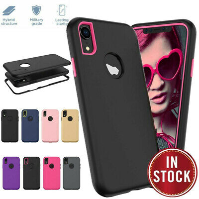 For iPhone XR XS Max X 8 7 6 Plus Protective Heavy Duty Hybrid Rugged Case Cover