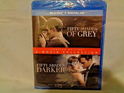 Fifty Shades of Grey / Fifty Shades Darker 2-Movie Collection Blu-Ray / NEW