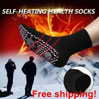 FIR Tourmaline Magnetic Socks SELF HEATING Therapy Magnetic Sock Health Unisex