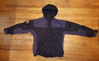 cb835174d VINTAGE THE NORTH Face RTG Jacket Parka Purple Black Full Zip Mens Large  *Rare*
