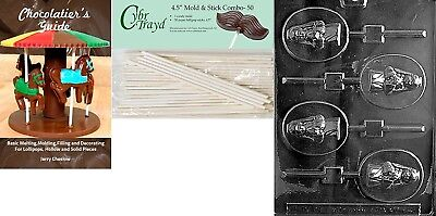 (+50 Sticks/Book) - Cybrtrayd Girl Communion Lolly Chocolate Candy Mould with