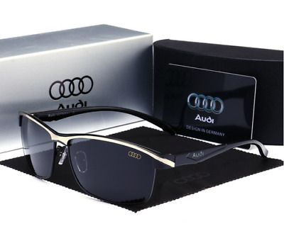 HOT AUDI Man Polarized Sunglasses Classic Men's Lens Glasses WITH BRAND BOX