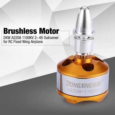 DXW A2208 1100KV 2-4S Outrunner Brushless Motor for RC Fixed Wing Airplane JI
