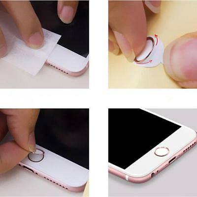 Touch ID Metal Home Button Sticker Fingerprint Ring For iPhone 5 6S 7 Plus MA