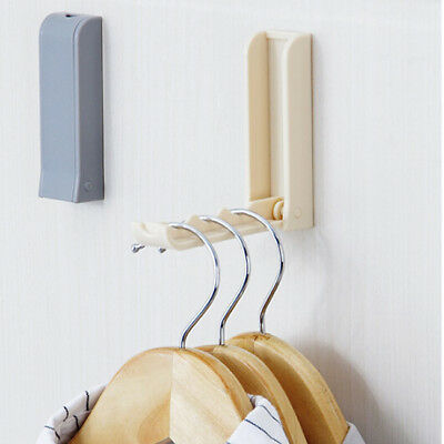 Foldable Door Hook Household Invisible Coat Storage Holder Wall Hanger MA