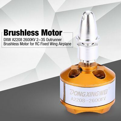 DXW A2208 2600KV 2-3S Outrunner Brushless Motor for RC Fixed Wing Airplane JI