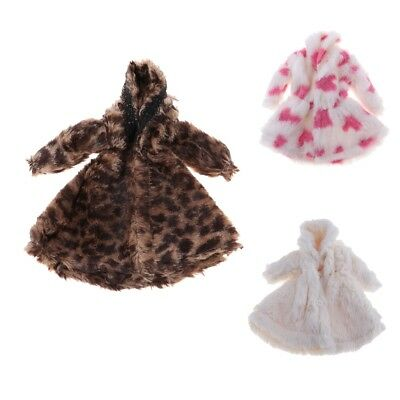 Dolls Winter Plush Coat Fashion Clothes and Accessories for 1/6 Dolls