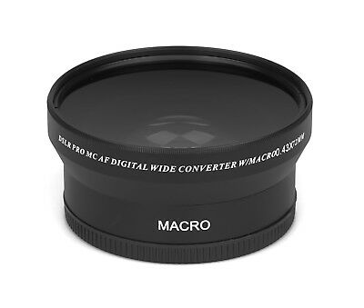 0.43x - 72mm HD Real Glass Branded Optics Wide Angle Macro Resolution Lens Lens