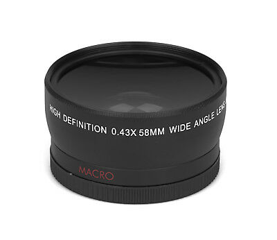 0.43x - 58mm HD Real Glass Branded Optics Wide Angle Macro Resolution Lens Lens
