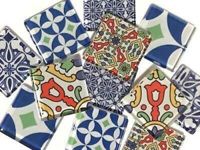 Moroccan Inspired Handmade Glass Mosaic Tiles 2.5cm - Art Craft Supplies