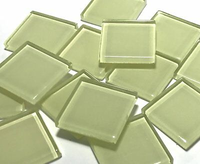 Yellow Coloured Glass Mosaic Tiles 2.5cm (No. 1) - Art Craft Supplies
