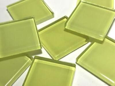 Yellow Coloured Glass Mosaic Tiles 2.5cm (No. 2) - Art Craft Supplies